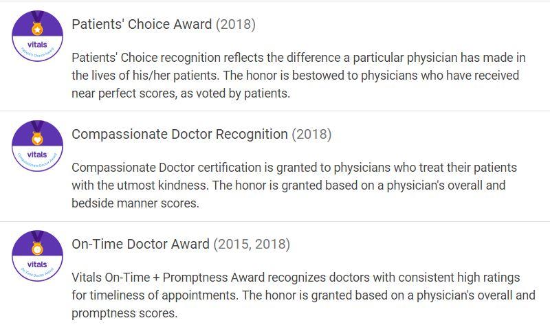 Dr. Ede Awards - Vitals
